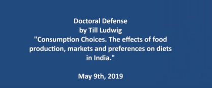 Consumption Choices: The effects of food production, markets and preferences on diets in India.