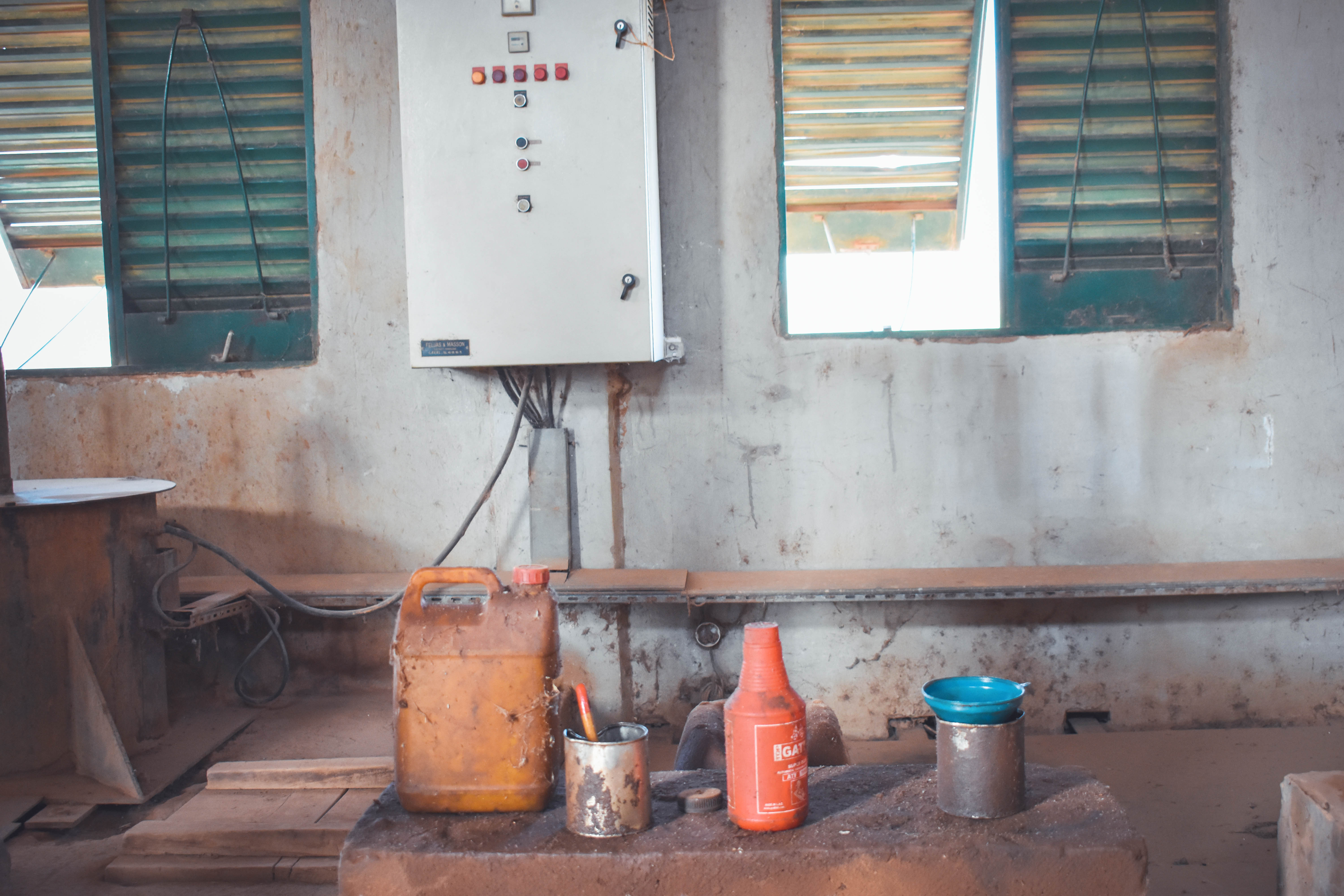 The inside of a pumping station in the south-southeast of Niamey/Niger.