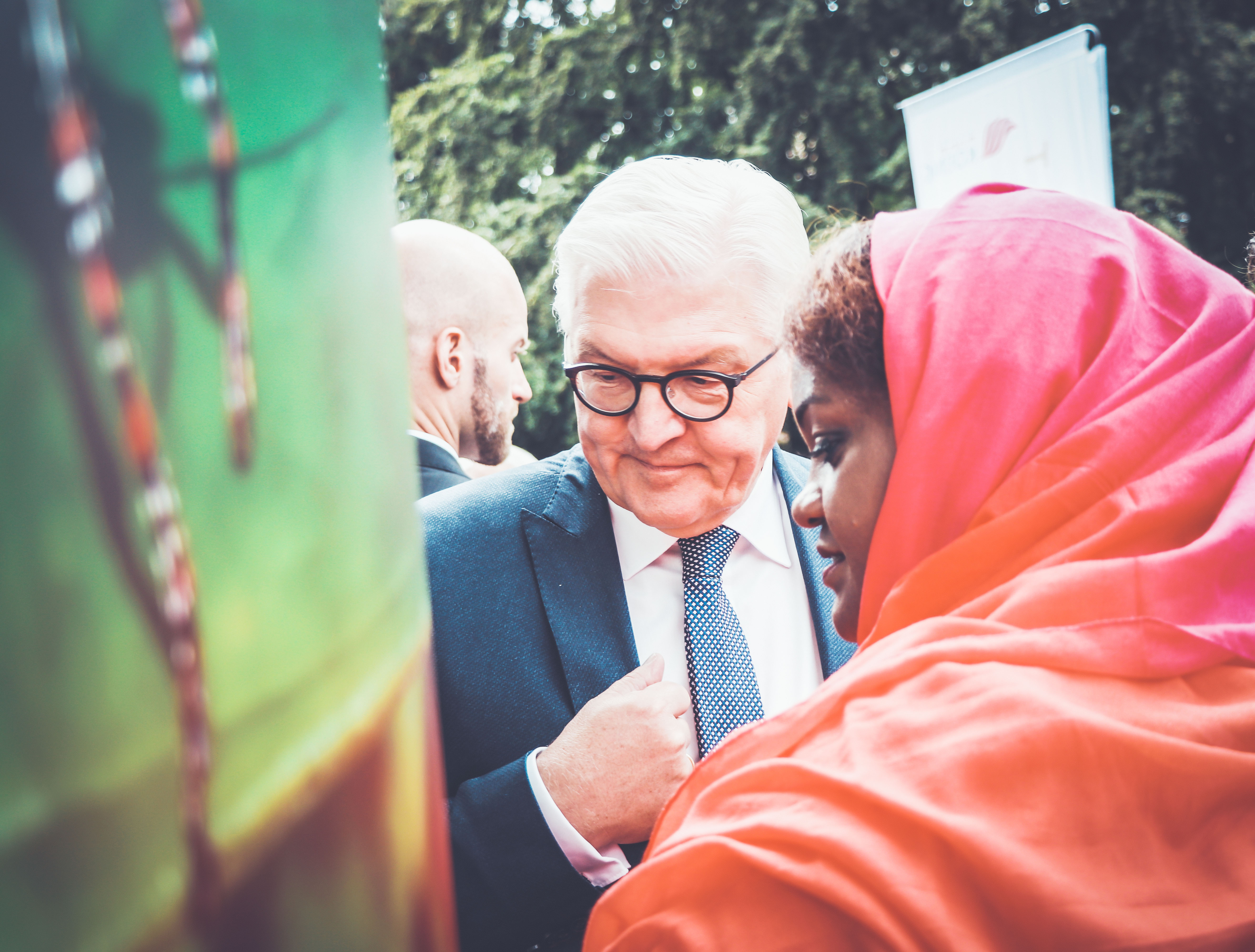 President of Germany Frank-Walter Steinmeier at ZEF Tent