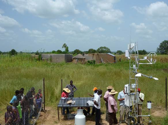Researchers in the WASCAL Research Basin in Bolgatanga, Ghana