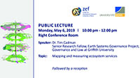 Mapping and measuring ecosystem services - Public lecture by Dr. Tim Cadman