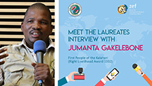 RLC Interview with Jumanta Gakelebone, First People of the Kalahari, Botswana