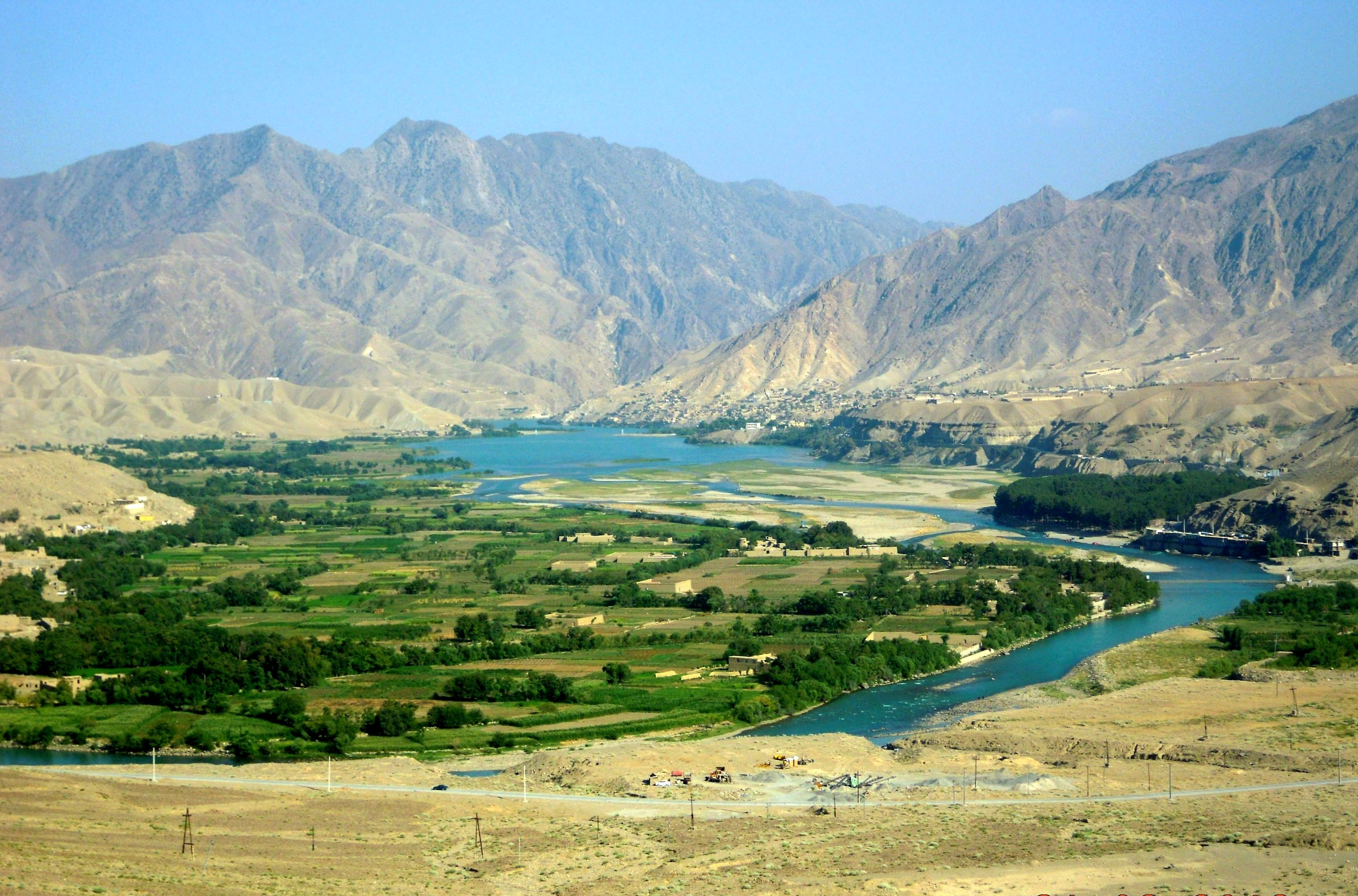 Landscape in Afghanistan.