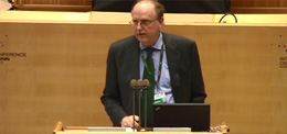ZEF Director Joachim von Braun at the UNCCD 2nd Scientific Conference