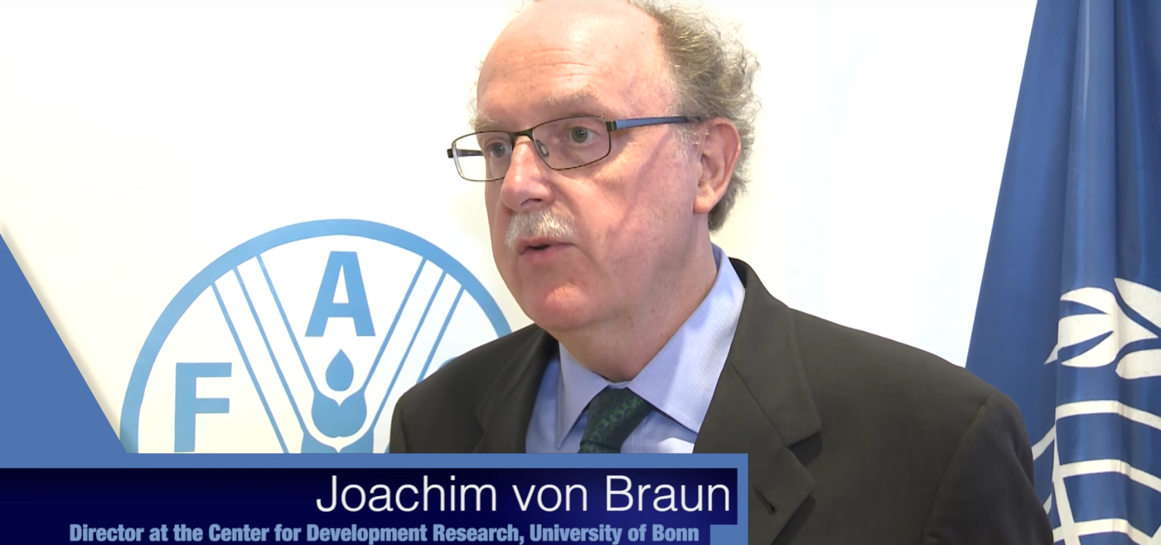 Joachim von Braun: Remarks on his talk with Jacques Diouf, FAO Director-General